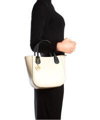 Carla Ferreri Elegantní kožená business kabelka 3031 Beige