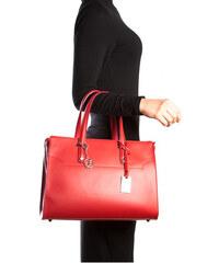Carla Ferreri Elegantní kožená business kabelka 3032 Rosso