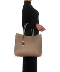 Carla Ferreri Elegantní kožená business kabelka 168 Fango