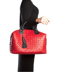 Carla Ferreri Elegantní kožená business kabelka 890 Rosso