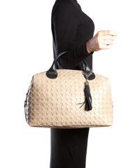 Carla Ferreri Elegantní kožená business kabelka 890 Fango
