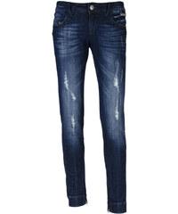 Eighth Sin dámské džíny s oděrkami tmavě modré XS