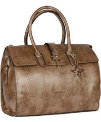 Makgio dámská větší kabelka s přezkou bronzová