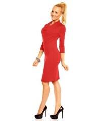 e919b45ecf0 Dámské společenské šaty Monika s 3 4 rukávem červené Lental
