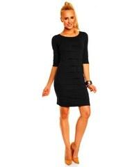 69dab50b4a0 Dámské společenské šaty Brygida s 3 4 rukávem černé Lental