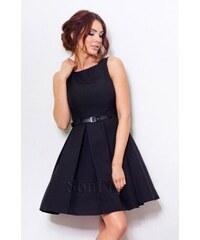 Dámské elegantní společenské šaty bez rukávu s páskem černé NUMOCO 6-4 c9155ae2519