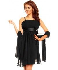 Dámské společenské šaty Charm s Paris se šálou na ramínka černé Charm s ... 281dfc8ad6