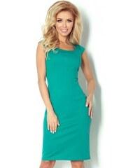 Dámské elegantní společenské šaty bez rukávu SF 53-13 zelené NUMOCO 53-13 453e2b01b6