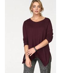 BOYSEN'S Dlouhý pulovr Boysen´s vínová - Normální délka (N)