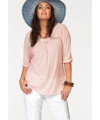 BOYSEN'S Tunikové tričko Boysen´s růžová - Normální délka (N)