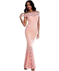 Goddess Světle růžové šaty Thyana