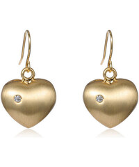 Náušnice Golden heart zlaté C60031