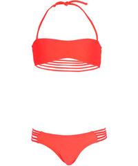 Monpetitbikini Maillots de bain enfant Mon Mini Teenie Bikini rose corail - Maillot de bain fille bande