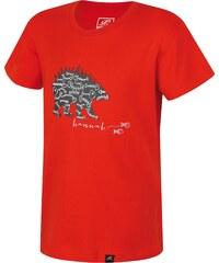 Hannah Dětské tričko s medvědem Duckie JR - červené
