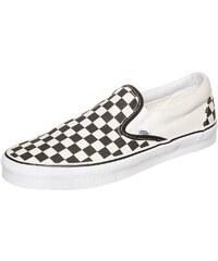 Große Größen: VANS Classic Slip-On Checkerboard Sneaker, weiß / schwarz, Gr.5.0 US - 36.5 EU-9.5 US - 42.5 EU