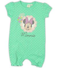 E plus M Dívčí puntíkovaný overal Minnie - zelený