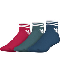 adidas Trefoil Ankle Stripes Socken steel/green
