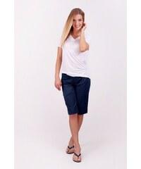 SAM 73 Dámské plátěné ¾ kalhoty SHWS16_10 blue - modrá