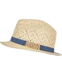 RI Béžový slaměný klobouk
