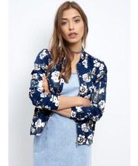 ELISE RYAN Modrá bunda s květinovým potiskem