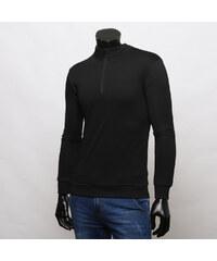 Maritimi Sweatshirt im Troyer-Design - Schwarz - S