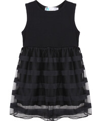 Lesara Kinder-Kleid mit Rockteil im Mesh-Design - 92