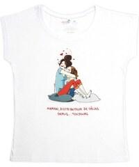 Rigolobo Maman distributeur de calins - T-shirt - blanc
