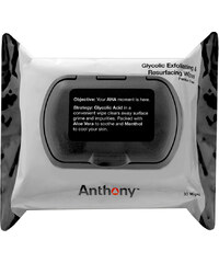 Anthony For Men Glycolic Exfoliating and Resurfacing Wipes Gesichtsreinigungstuch 30 st