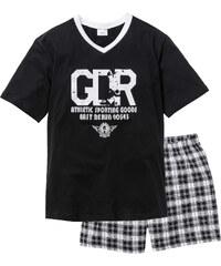 bpc bonprix collection Pyjashort noir manches courtes lingerie - bonprix