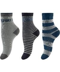 Vivance Socken 3er-Pack in grau für Jungen von bonprix