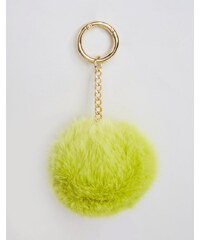 ASOS - Porte-clés à pompon oversize avec anneau - Vert