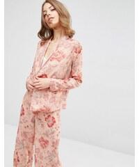 ASOS - Blouse de pyjama fleurie coupe cache-cœur - Multi