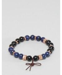 Icon Brand - Bracelet de perles exclusivité ASOS - Bleu - Bleu