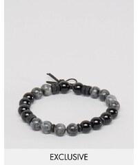 Icon Brand - Bracelet de perles - Gris - Exclusivité ASOS - Gris