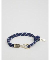 Icon Brand - Gewebtes marineblaues Armband mit Haken - Mehrfarbig