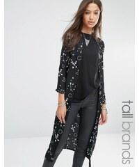 Noisy May Tall - Kimono long imprimé - Noir