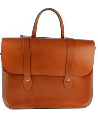 The Leather Satchel Co. Kožená taška Music Case od Leather Satchel - London Tan