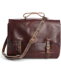 BLEU DE CHAUFFE Burgundy Irving 48-Hour Shoulder Bag