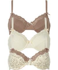 bpc bonprix collection Lot de 3 soutiens-gorge, Bon. A marron lingerie - bonprix