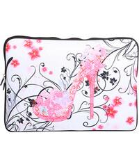 Lesara Neopren-Laptoptasche mit Motiv - Pink