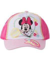 C&A Minnie Mouse Baseballcap in weiß / Rosa