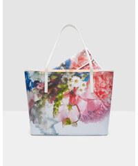 Ted Baker Leder-Shopper mit Focus Bouquet-Print Blassblau