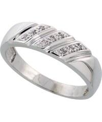 KLENOTA Pánský stříbrný prsten s diamanty
