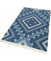 HOME AFFAIRE COLLECTION Teppich Collection Kayla handgewebt aus recycltem Material blau 1 (60x90 cm),3 (120x180 cm),4 (160x230 cm),5 (200x200 cm)