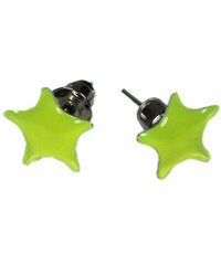 Design Star náušnice - hvězdičky x světle žlutá