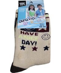 Gyermek AURA.VIA dětské ponožky 5-6 let béžová