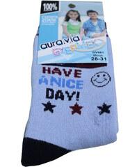 Gyermek AURA.VIA dětské ponožky 5-6 let světle modrá