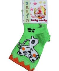Design Berto Baby ponožky 0-1 rok světle zelená
