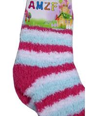 Design Žinilkové ponožky AMFZ 5-6 let tmavě růžová