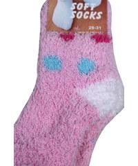 LK Look dětské ponožky 5-6 let světle růžová